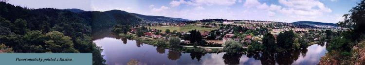 panoramatický pohled z Kazína