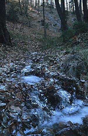 ledové kaskády na Babském potoce