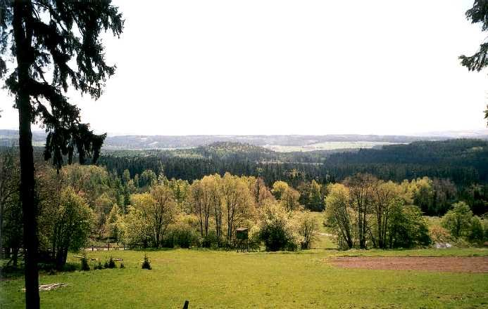 výhled ze Skelné Huti