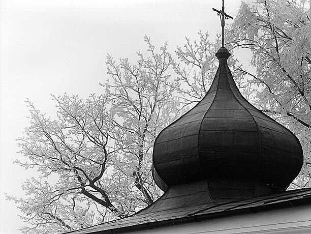 kaple sv. Máří Magdalény v zimním hávu