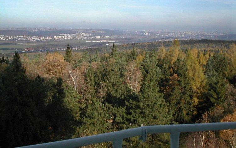 Praha, Radotín, Lipence z výšky 30m