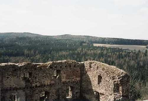 výhled z věže Valdeka k Malé Vísce