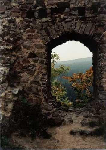 okno paláce Valdeka