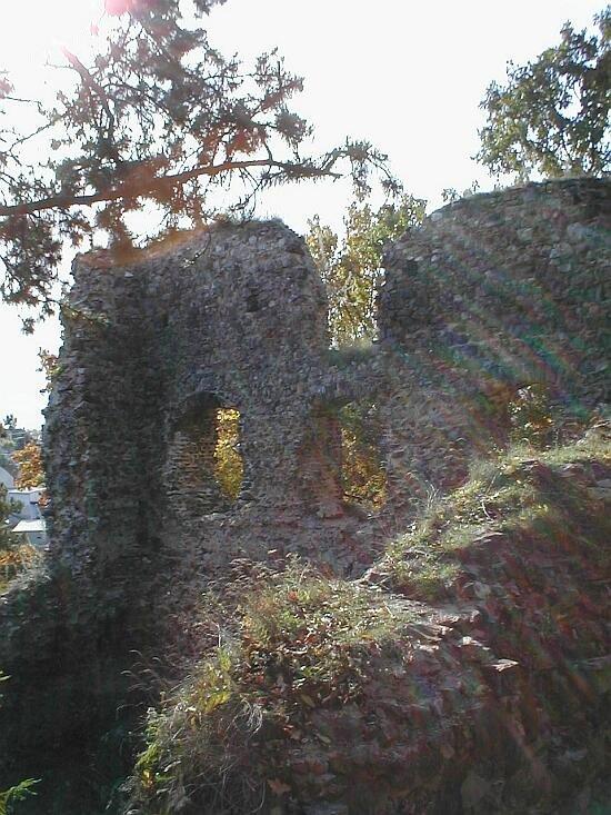 vnitřní prostory hradu Žebrák