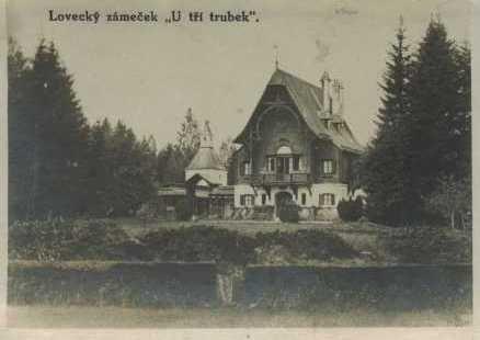 Lovecký zámeček Tři Trubky 1923