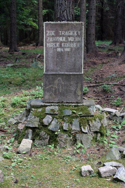 pomník vojína Kořínka