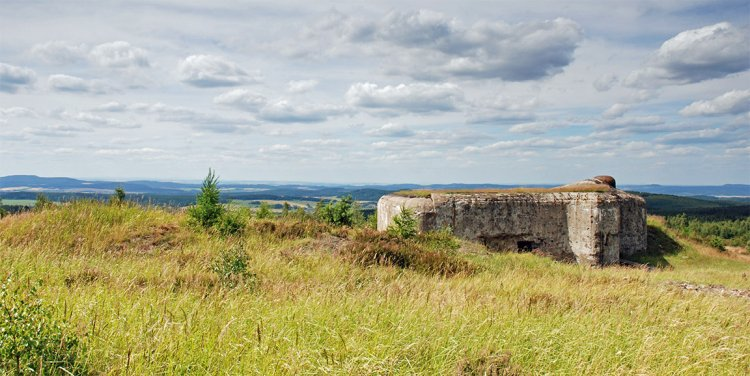pohled na bunkr CE