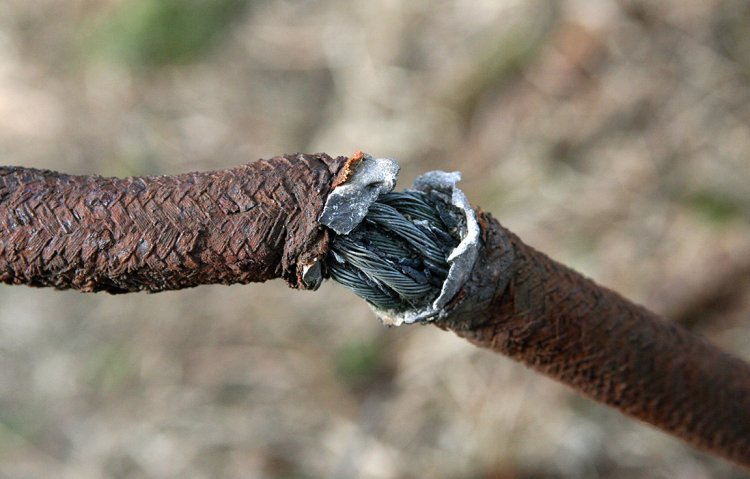 Detail napájecího kabelu