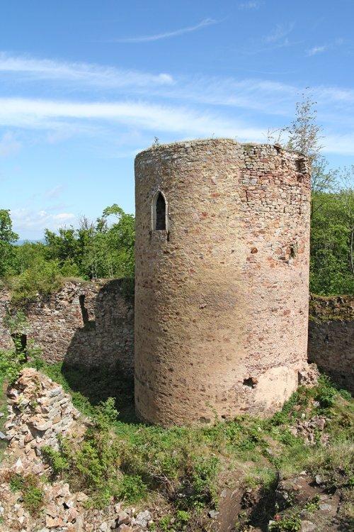 zřícenina Valdeka - detail věže
