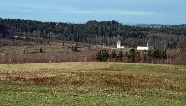 Řídící věž střelnice Kolvín - jih