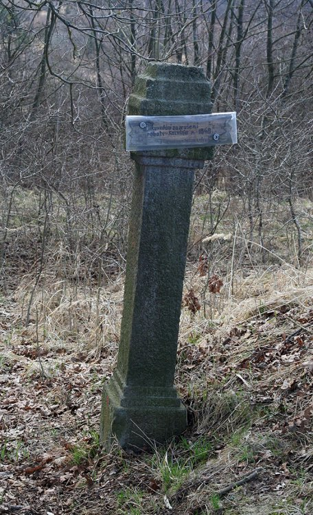 Poškozená připomínka na zrušení roboty z r. 1848