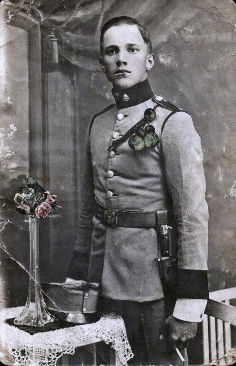František Třeška st. ve vojenském, červen 1914