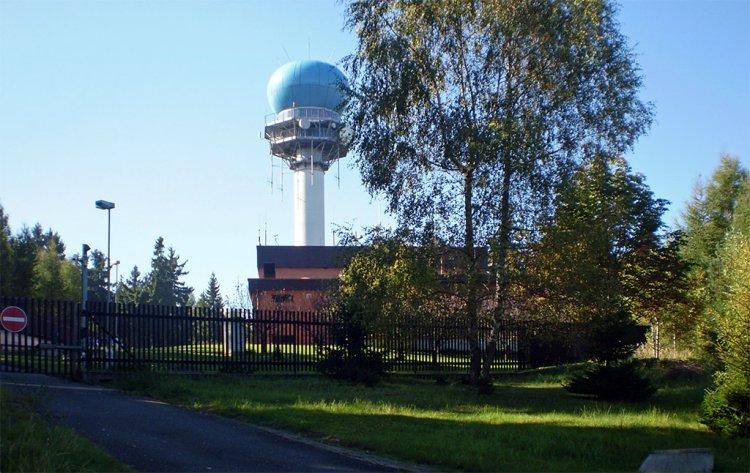 vrch Písky - letecký radar