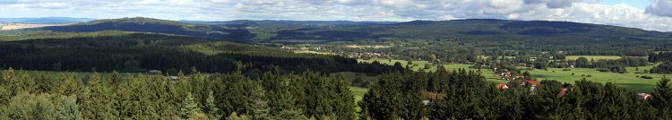 Panorama Kokšína a Marásku