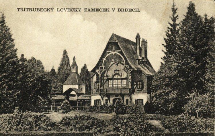 Lovecký zámeček Tři Trubky 1931