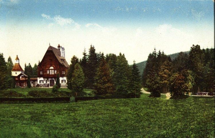 Lovecký zámeček Tři Trubky 1914
