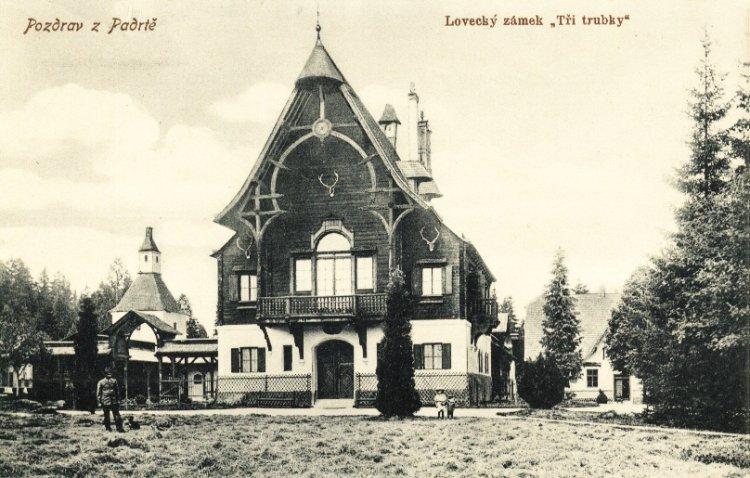 Lovecký zámeček Tři Trubky 1909