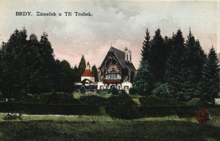 Lovecký zámeček Tři Trubky 1926
