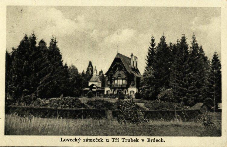 Lovecký zámeček Tři Trubky 1934