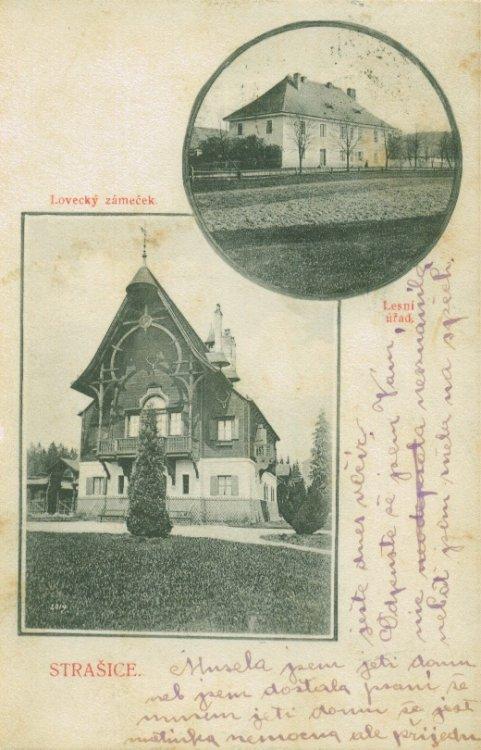 Lovecký zámeček Tři Trubky 1907