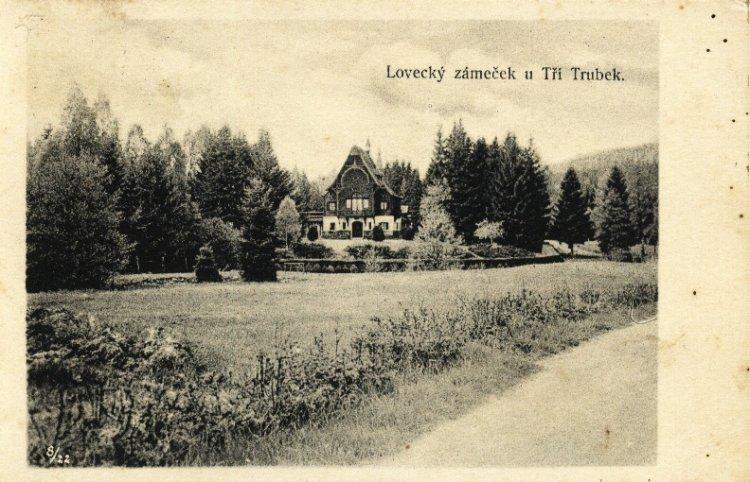 Lovecký zámeček Tři Trubky 1937