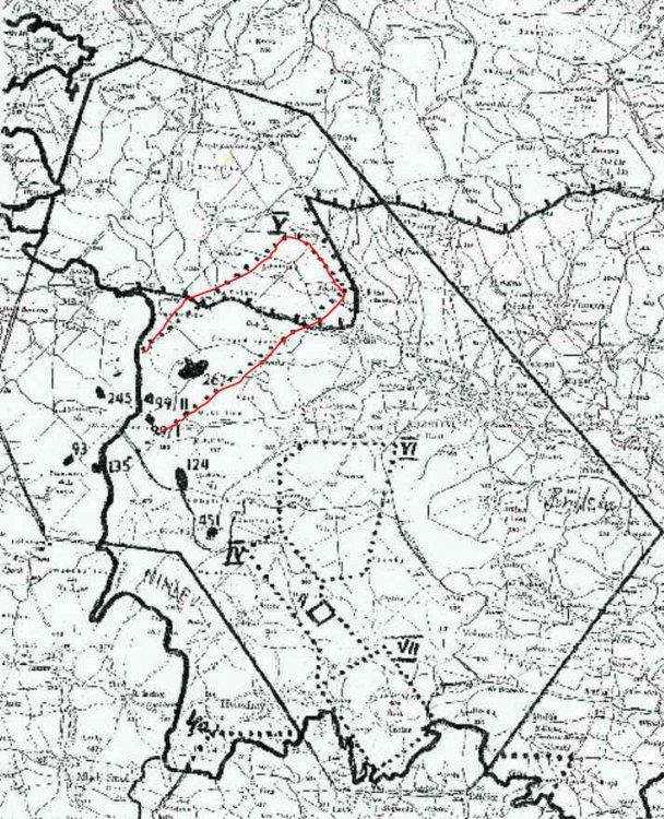 mapa průzkumu Jahodové hory aj.