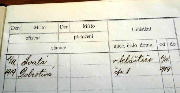 Zaječovští četníci 1919-1948