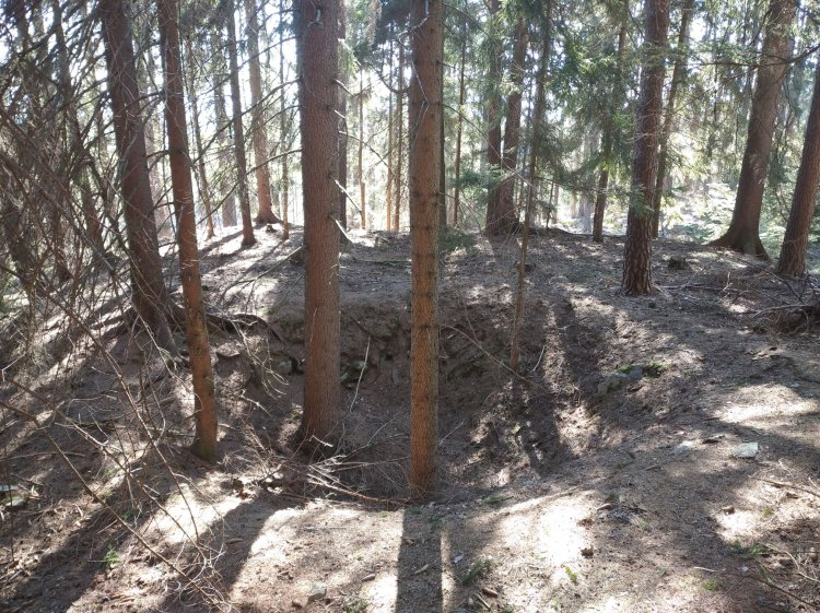 sledování žíly pod Plešcem