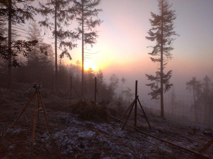 mrazivé ráno na Praze 2020