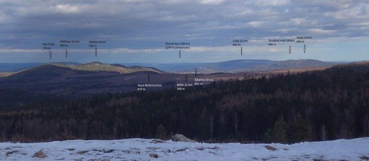 panorama z Houpáku na východ 2020