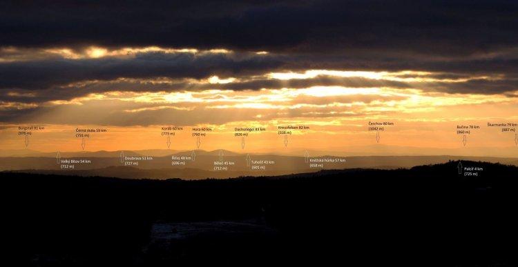 panorama z Kočky na jihozápad 2014