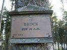 vrcholová cedulka Brdce 839
