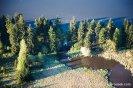 hráz mezi Hořejším a Dolejším Padrťským rybníkem