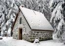 Třemšínská bouda v zimě